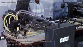 Automatic UV - Aqueous - Solvent Varnish Roller Coater